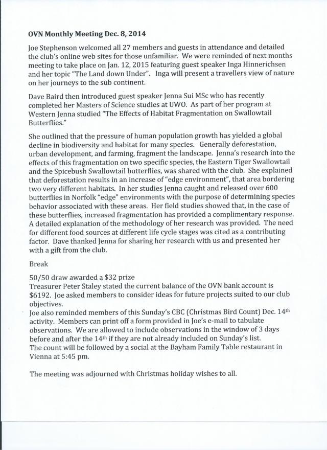 OVN Minutes Dec 8, 2014